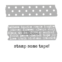Polka Dots and Favorite Words Tape Stamp