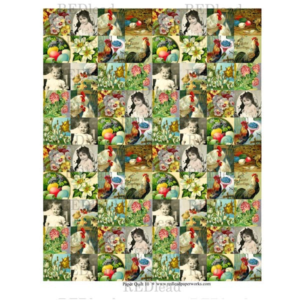 Collage Sheet Patchwork Quilt 10