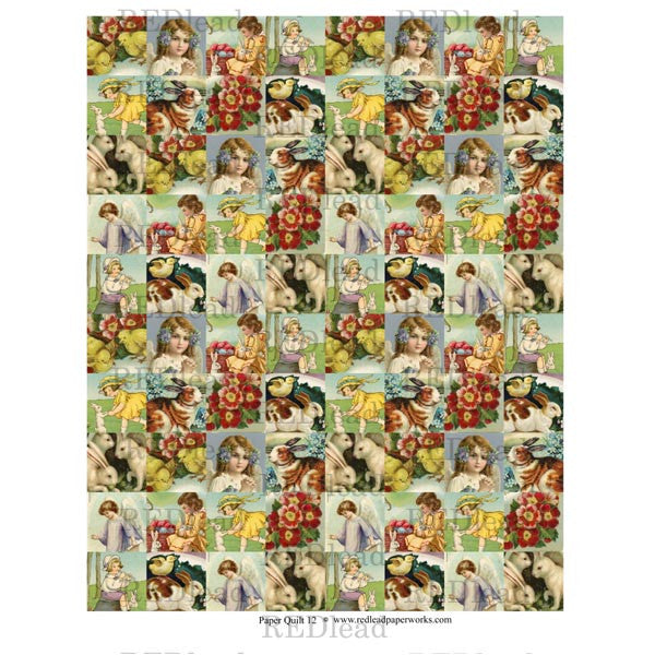 Collage Sheet - Patchwork Quilt 12