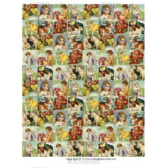 Collage Sheet Patchwork Quilt 12