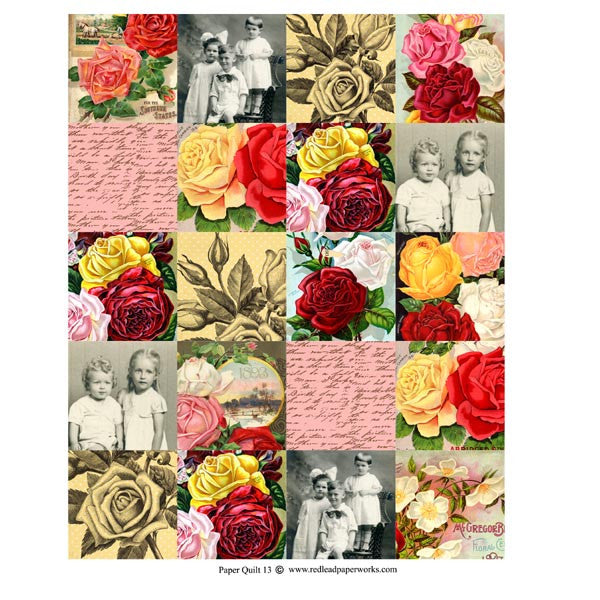 Collage Sheet Patchwork Quilt 13