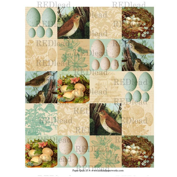 Collage Sheet - Patchwork Quilt 15