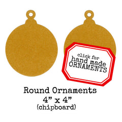Christmas Chipboard Round Ornaments - 2