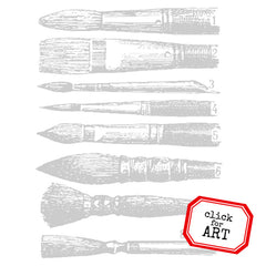 Art Brushes Rubber Stamp