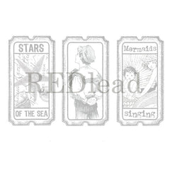 Stars of the Sea Tickets Rubber Stamp