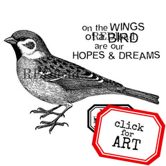 cling mount bird rubber stamp