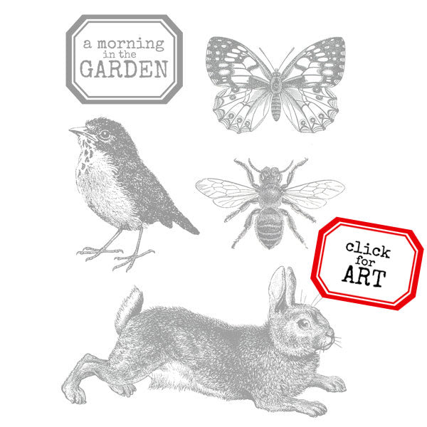 A Morning in the Garden Petite Rubber Stamp