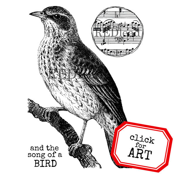 And the Song of a Bird Rubber Stamp