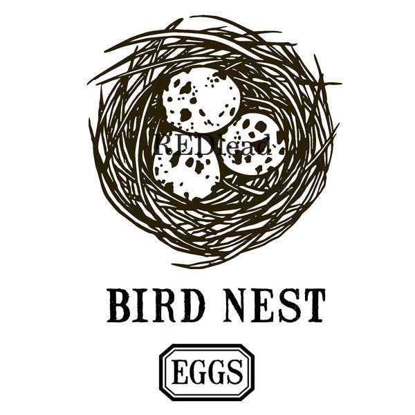 Bird Nest with Eggs Rubber Stamp