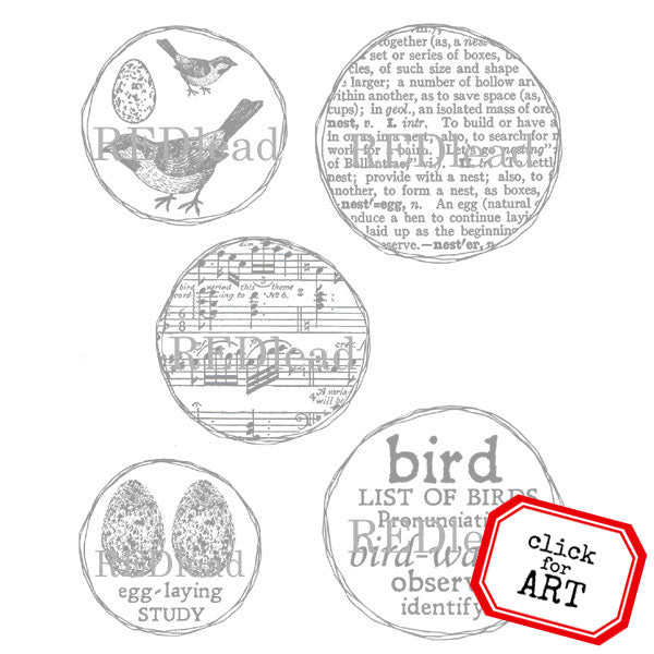 Bird Watch Bird Rubber Stamp SOLD OUT