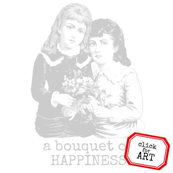 A Bouquet of Happiness Rubber Stamp