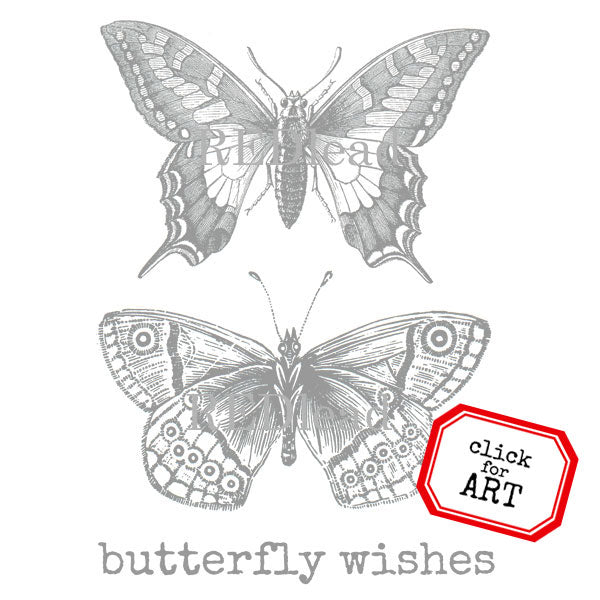 Butterfly Wishes Rubber Stamp