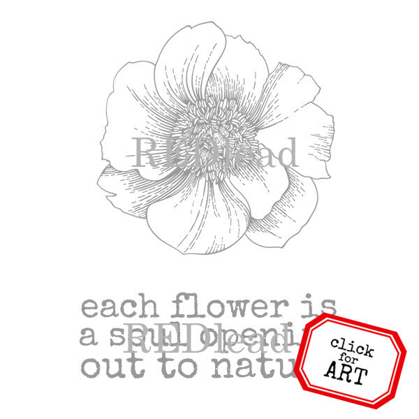 Each Flower is a Soul Opening Out to Nature Rubber Stamp