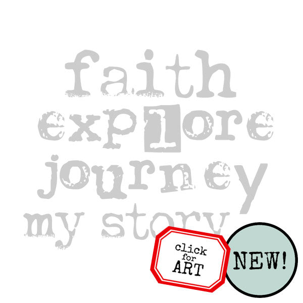 Faith Explore Journey My Story Rubber Stamp