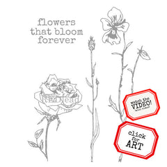flowers that bloom rubber stamp