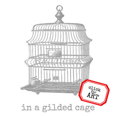 In A Gilded Cage Rubber Stamp