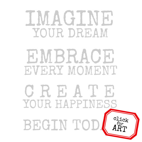 Imagine Your Dream Rubber Stamp Save 30%
