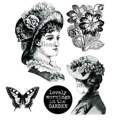 Victorian Lady cling mount rubber stamps