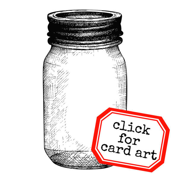 A Mason Jar Rubber Stamp Save 20%