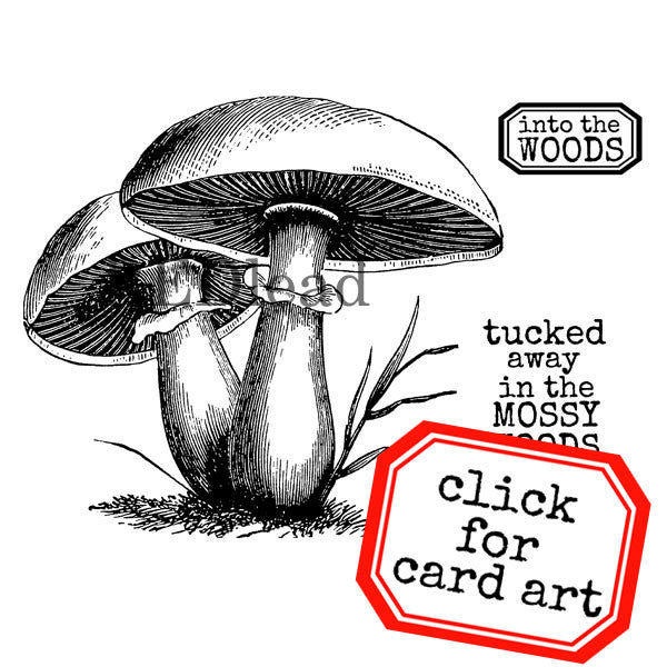 Mossy Woods Mushrooms Rubber Stamp