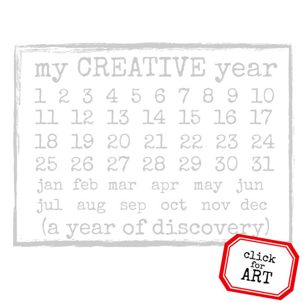 My Creative Year Calendar Rubber Stamp