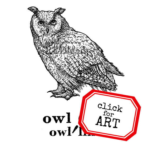 Owl Defined Rubber Stamp