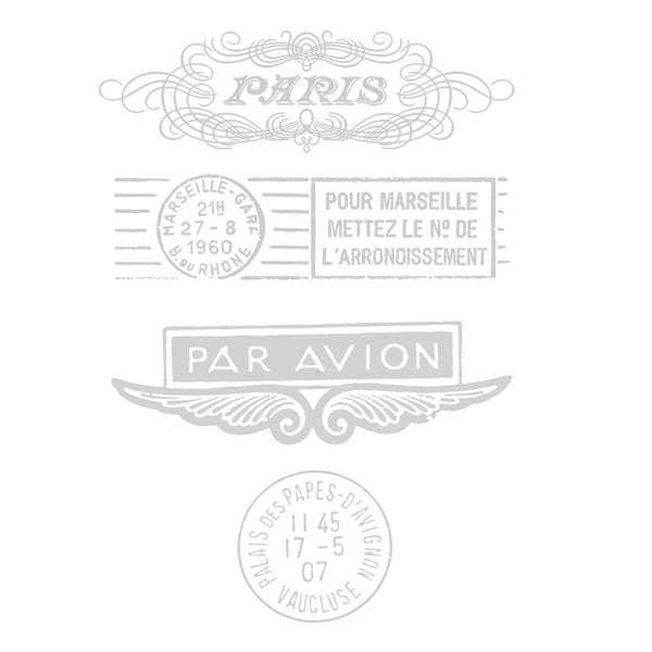 Paris Rubber Stamp Paris Par Avion