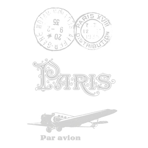 Paris Rubber Stamp Paris Post Marks