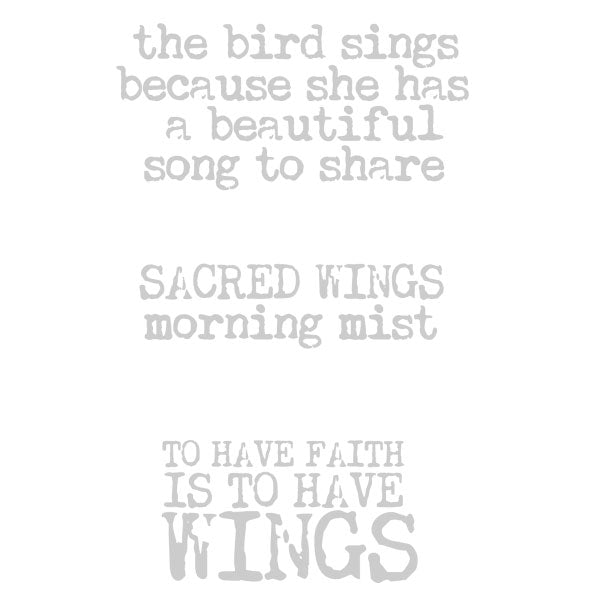 Sacred Wings Rubber Stamp