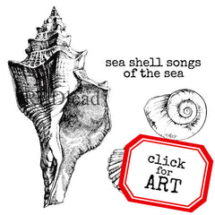 sea shell rubber stamp