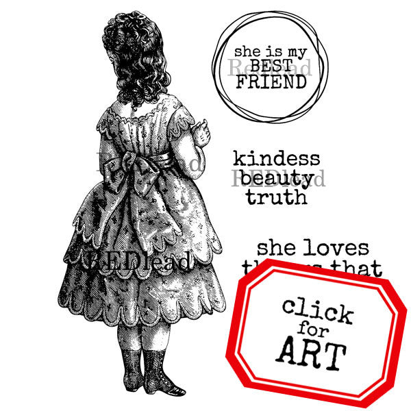 She is My Best Friend Rubber Stamp