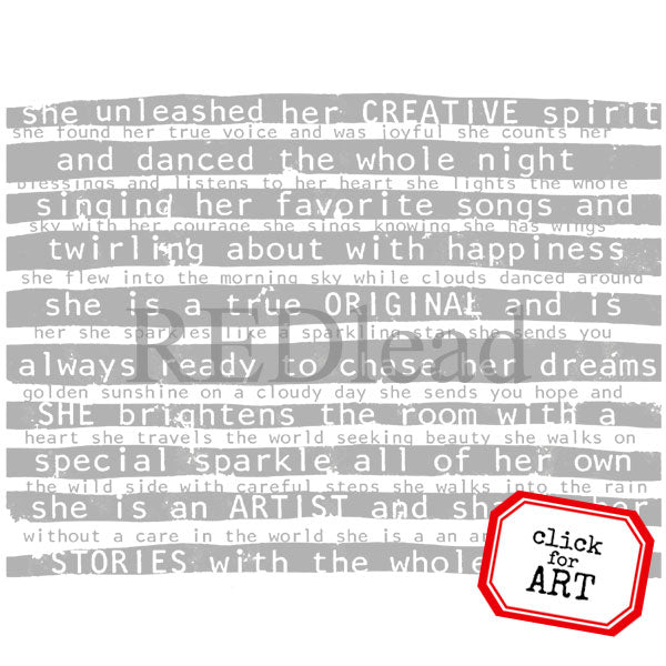She is an Artist Rubber Stamp Save 20%