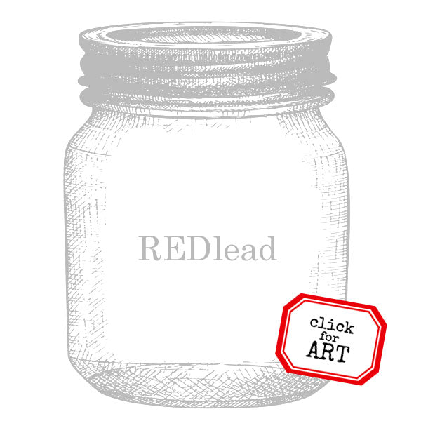 mason jar rubber stamp