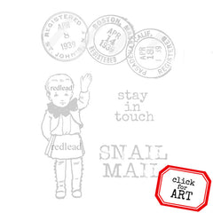 Snail Mail Mail Art Rubber Stamp