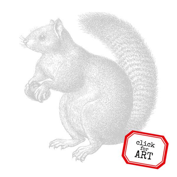 Large Woodland Squirrel Rubber Stamp