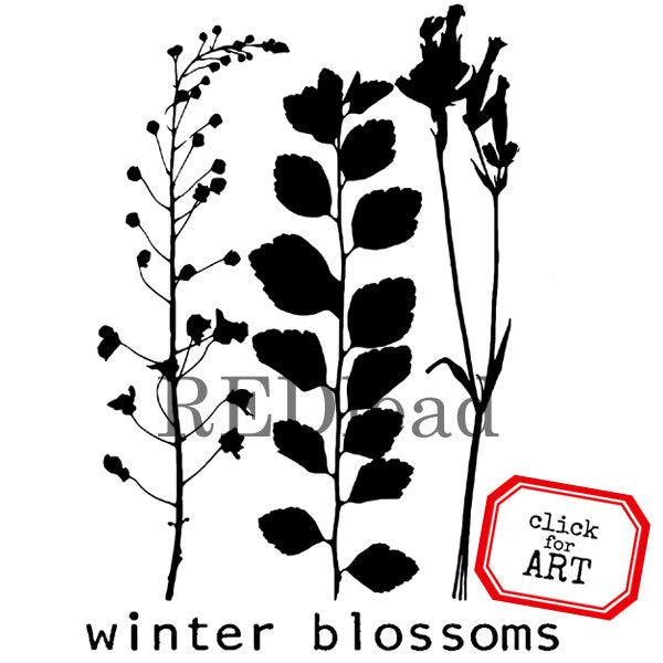 Winter Blossoms Rubber Stamp