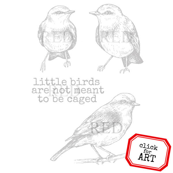 3 Little Birds Rubber Stamp