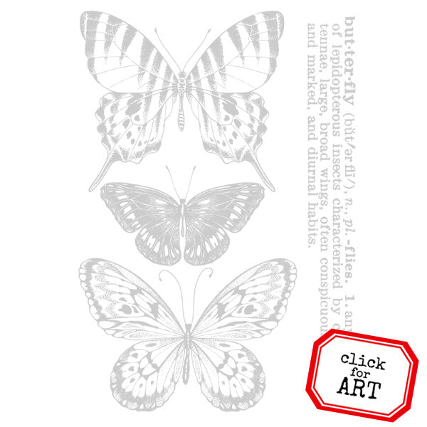 Butterfly Defined Rubber Stamp Save 10%