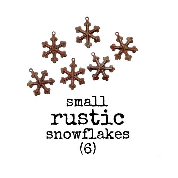 Rustic Snow Flakes with a Loop - 1 pack of 6 -