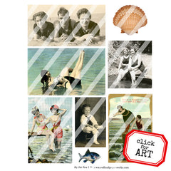 By the Sea Collage Sheet 1