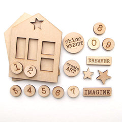 premium wood art house kits