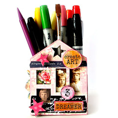 mixed media art house kit