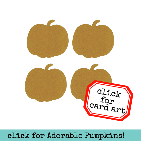 4 Small Chipboard Pumpkins