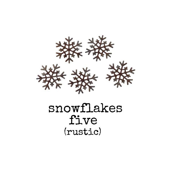 Rustic Snowflakes - 1 pack of 5