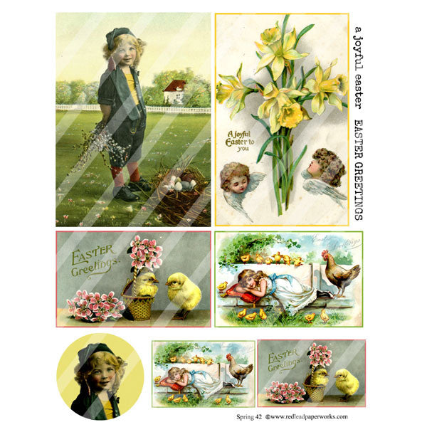 New! Spring 42 Collage Sheet