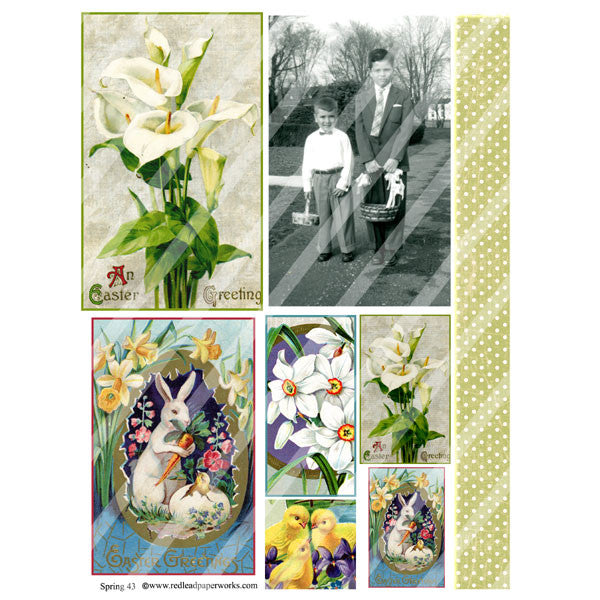 New! Spring 43 Collage Sheet