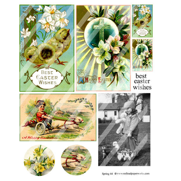 New! Spring 44 Collage Sheet