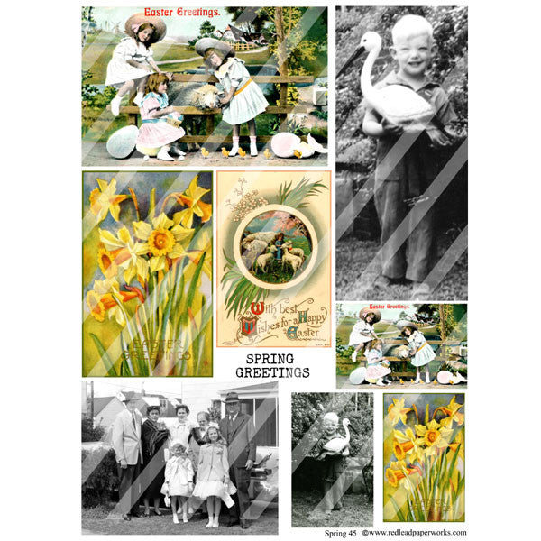 New! Spring 45 Collage Sheet