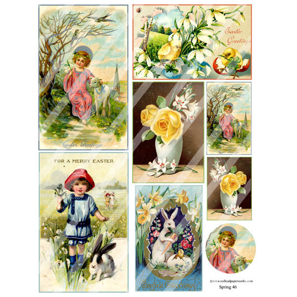 New! Spring 46 Collage Sheet