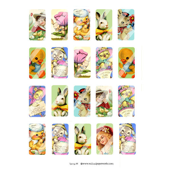 New! Spring 48 Domino Collage Sheet